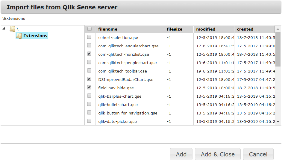 Manage Qlik Sense Extensions with PlatformManager